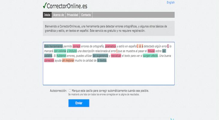 CorrectorOnline.es